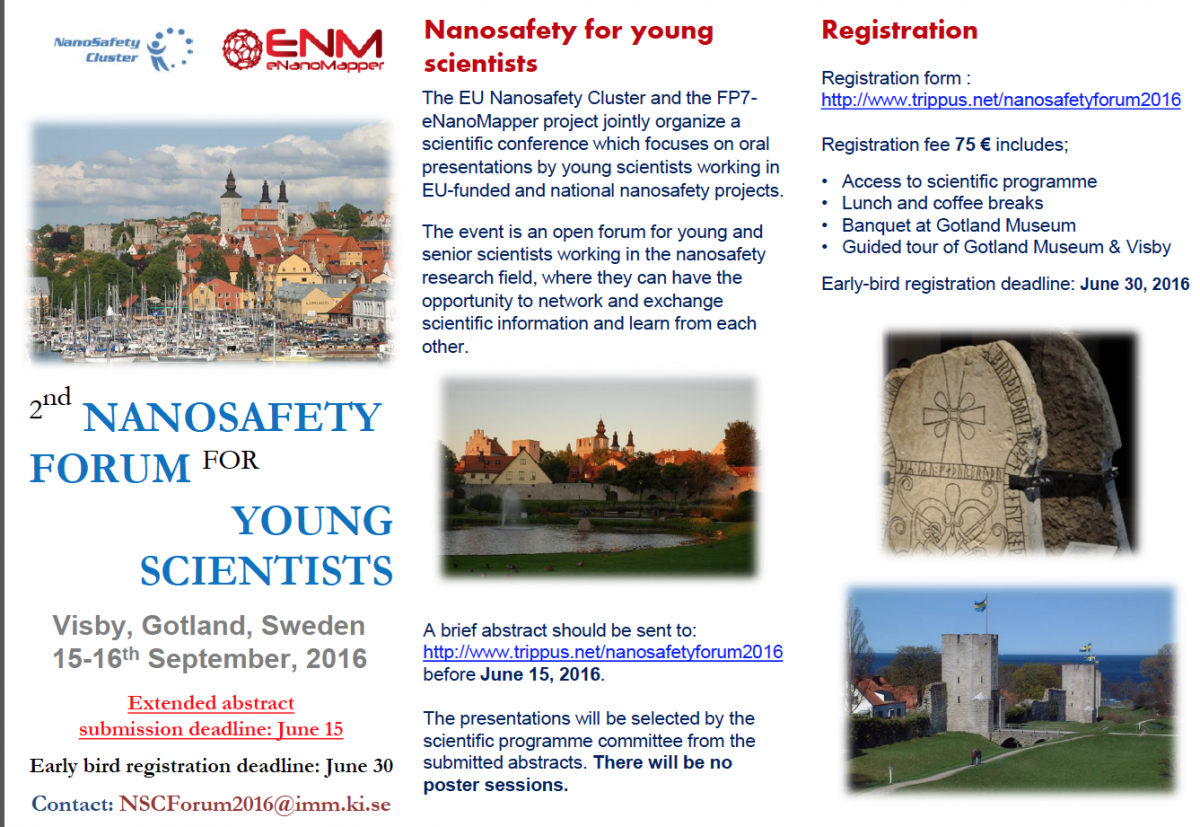 2nd Nanosafety Forum for Young Scientists