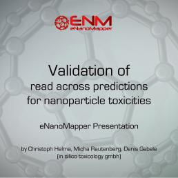 Validation of read across predictions for nanoparticle toxicities