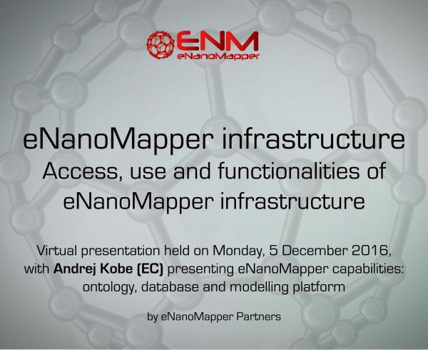 eNanoMapper infrastructure