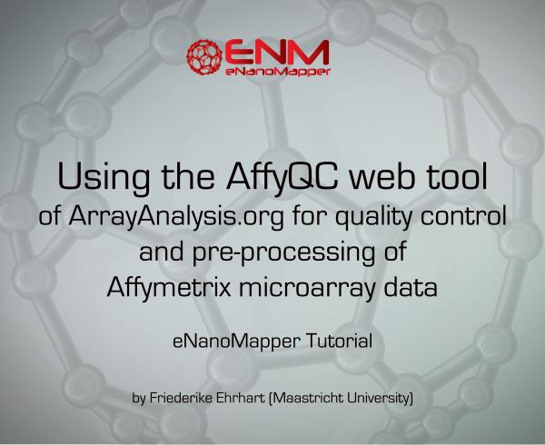 AffyQC web tool of ArrayAnalysis.org for quality control and pre-processing of Affymetrix microarray data