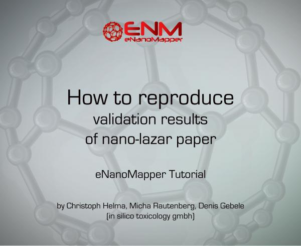 How to reproduce validation results of nano-lazar paper