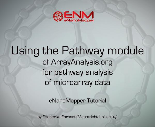 eNanoMapper tutorial: Pathway analysis of microarray data