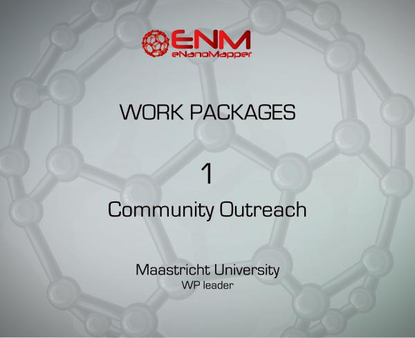 eNanoMapper Work Package 1 – Community outreach