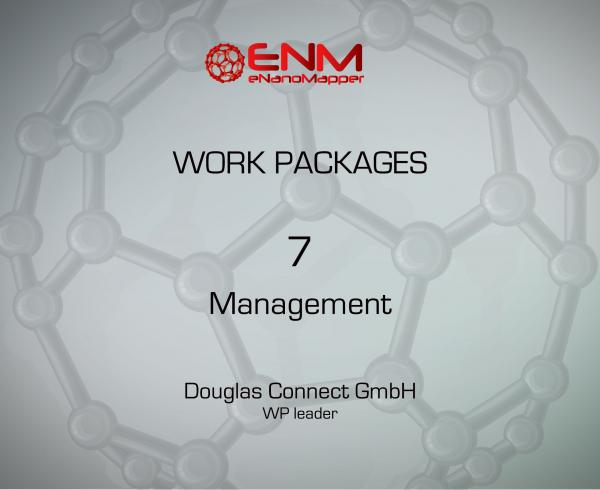 eNanoMapper Work Package 7 - Management