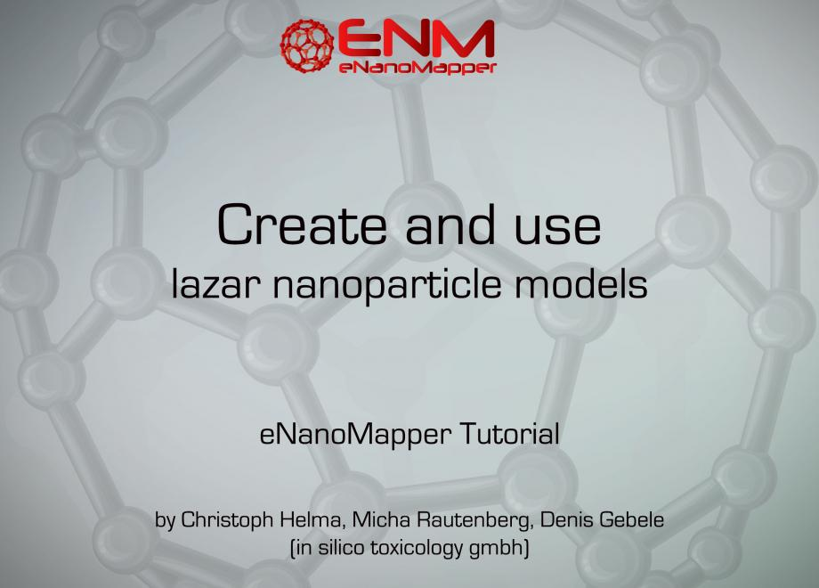 Create and use lazar nanoparticle models