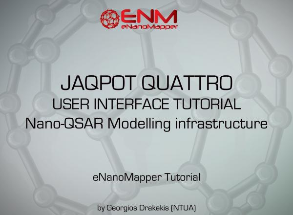 JAQPOT QUATTRO user interface tutorial