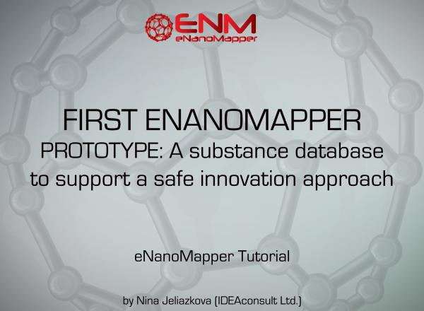 WEBINAR: The first eNanoMapper prototype